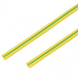 Термоусадочная трубка 14/7,0 мм, желто-зеленая, упаковка 50 шт. по 1 м PROconnect