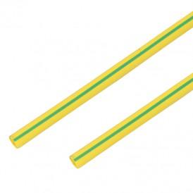 Термоусадочная трубка 16/8,0 мм, желто-зеленая, упаковка 50 шт. по 1 м PROconnect