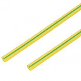 Термоусадочная трубка 20/10 мм, желто-зеленая, упаковка 10 шт. по 1 м PROconnect