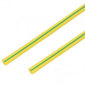 Термоусадочная трубка 40/20 мм, желто-зеленая, упаковка 10 шт. по 1 м PROconnect