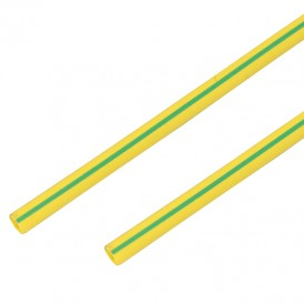 Термоусадочная трубка 50/25 мм, желто-зеленая, упаковка 10 шт. по 1 м PROconnect