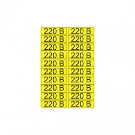 Наклейка знак электробезопасности «220 В» 15х50 мм REXANT (20 шт на листе)