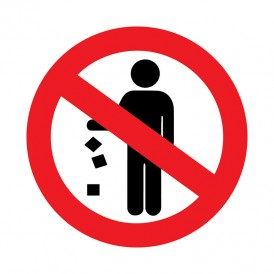 Наклейка запрещающий знак «Не мусорить» d-150 мм REXANT
