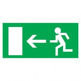 Табличка ПВХ эвакуационный знак «Направление к эвакуационному выходу налево» 100х300 мм REXANT