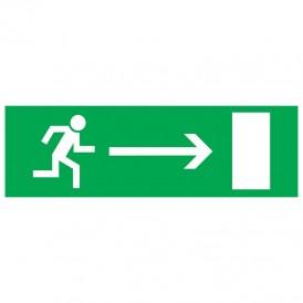 Табличка ПВХ эвакуационный знак «Направление к эвакуационному выходу направо» 100х300 мм REXANT