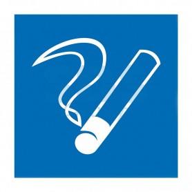 Табличка ПВХ информационный знак «Место курения» 200х200мм REXANT