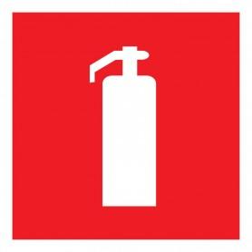 Табличка ПВХ знак пожарной безопасности «Огнетушитель» 200х200 мм REXANT