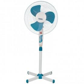 Вентилятор напольный DUX DX-1603 40 Вт, 220V, цвет белый/синий