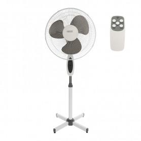 Вентилятор напольный DUX DX-1601R с пультом и таймером, 40 Вт, 220V, цвет белый/серый