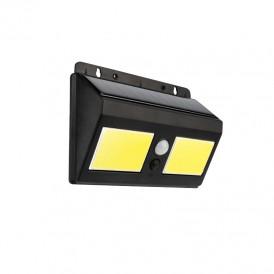 Светильник ПРОЖЕКТОР NEW AGE на солнечной батарее, датчик движения плюс датчик освещенности, кнопка вкл/выкл герметичная фасадная, LED COB монтаж на стену и на