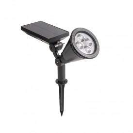 Светильник ПРОЖЕКТОР NEW AGE переливающийся RGB на солнечной батарее, кнопка вкл/выкл герметичная, LED монтаж на стену + на колышек