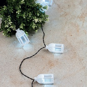 Каскад Lamper Керосиновая Лампа LED 5 м с выносной солнечной панелью 2 м и аккумулятором, IP65, 2 режима работы: мигание и постоянное теплое белое свечение