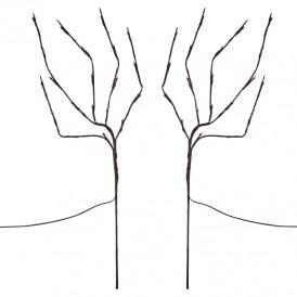 Светодиодное дерево Lamper Верба LED с солнечной панелью и аккумулятором, теплое белое свечение