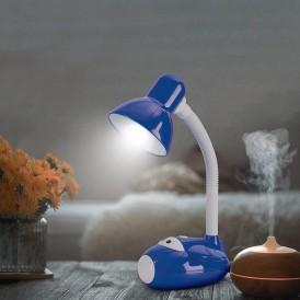 Светильник настольный REXANT Смелый Летчик на основании, с цоколем Е27, 60 Вт, цвет синий