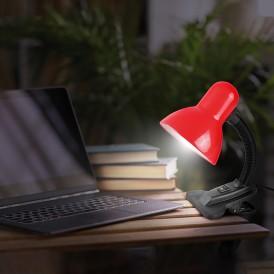 Светильник настольный REXANT Форте на прищепке, с цоколем Е27, 60 Вт, цвет красный