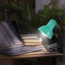 Светильник настольный REXANT Форте на прищепке, с цоколем Е27, 60 Вт, цвет бирюзовый