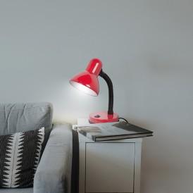 Светильник настольный REXANT Форте на основании, с цоколем Е27, 60 Вт, цвет красный