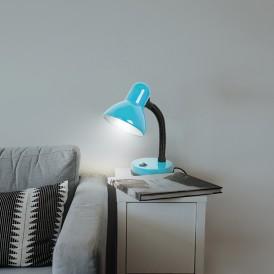Светильник настольный REXANT Форте на основании, с цоколем Е27, 60 Вт, цвет бирюзовый