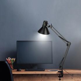 Светильник настольный REXANT Акцент на металлической стойке с винтовым зажимом, с цоколем Е27, 60 Вт, цвет антрацит
