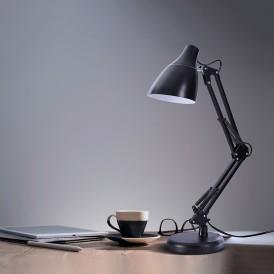 Светильник настольный REXANT Рубикон на металлической стойке с основанием, с цоколем Е27, 60 Вт, цвет антрацит
