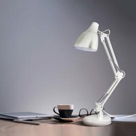 Светильник настольный REXANT Рубикон на металлической стойке с основанием, с цоколем Е27, 60 Вт, цвет лунный свет