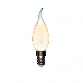 Лампа филаментная REXANT Свеча на ветру CN37 9.5 Вт 915 Лм 2700K E14 матовая колба