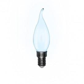 Лампа филаментная REXANT Свеча на ветру CN37 9.5 Вт 915 Лм 4000K E14 матовая колба