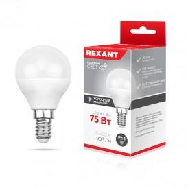 Лампа светодиодная Шарик (GL) 9,5 Вт E14 903 Лм 6500 K нейтральный свет REXANT