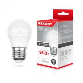 Лампа светодиодная Шарик (GL) 11,5 Вт E27 1093 Лм 6500 K нейтральный свет REXANT