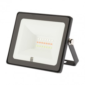 Прожектор цветного свечения мультиколор (RGB) 10 ватт с пультом дистанционного управления