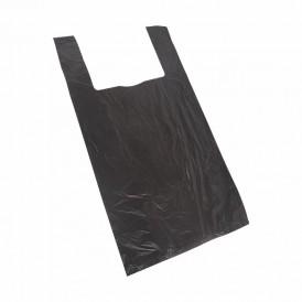 Пакет майка ПНД 28+16*50, 13мкм черная (100шт./уп)