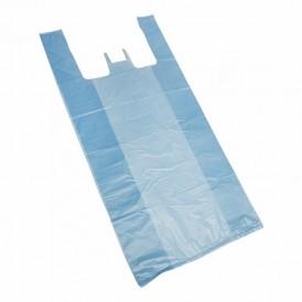 Пакет майка ПНД 30+16*60, 15мкм синяя (100шт./уп)