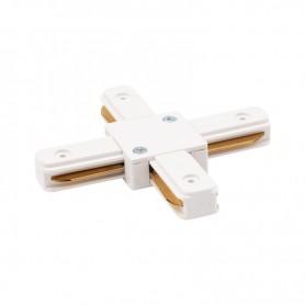 Коннектор для однофазного шинопровода X-образный REXANT белый