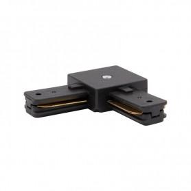 Коннектор для однофазного шинопровода L-образный REXANT черный
