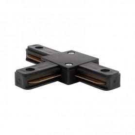 Коннектор для однофазного шинопровода T-образный REXANT черный
