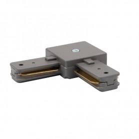 Коннектор для однофазного шинопровода L-образный REXANT серый