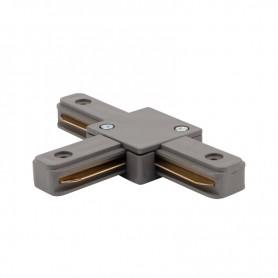 Коннектор для однофазного шинопровода T-образный REXANT серый
