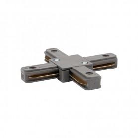 Коннектор для однофазного шинопровода X-образный REXANT серый