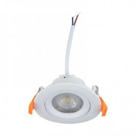 Светильник встраиваемый поворотный REXANT Bagel 12 Вт 4000 К LED