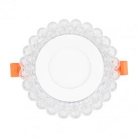 СветильниксветодиодныйвстраиваемыйREXANTAurora&SunsetIceRGBсизменяемойцветовойтемпературойирегулируемоймощностью4W+RGB4000 К LED