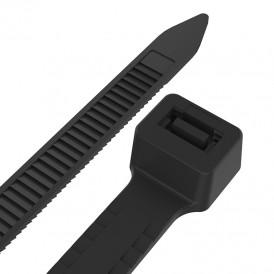 Хомут-стяжкa нейлоновая с тройным замком REXANT 400x7,6 мм, черная, упаковка 100 шт.