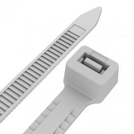 Хомут-стяжкa нейлоновая с тройным замком REXANT 300x4,8 мм, белая, упаковка 100 шт.