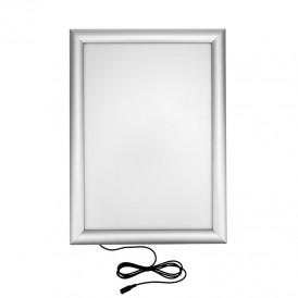 Подвесная двухсторонняя световая панель с креплением на тросах Постер LED Clip 210х297, 7 Вт REXANT