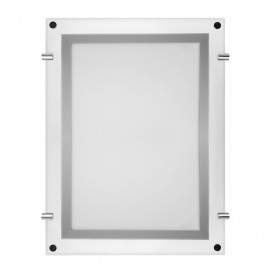 Световая панель бескаркасная тонкая Постер Crystalline LED подвесная односторонняя 501х741, видимая часть 481х721, габариты 600х840, 17 Вт REXANT