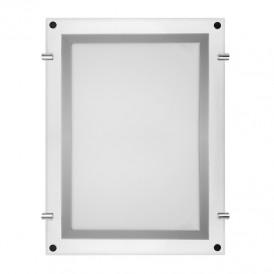 Световая панель бескаркасная тонкая Постер Crystalline LED подвесная двухсторонняя 210х297, видимая часть 190х277, габариты 281х368, 7 Вт REXANT