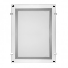 Бескаркасная подвесная двухсторонняя световая панель Постер Crystalline Round LED 1090х1690, 40 Вт REXANT