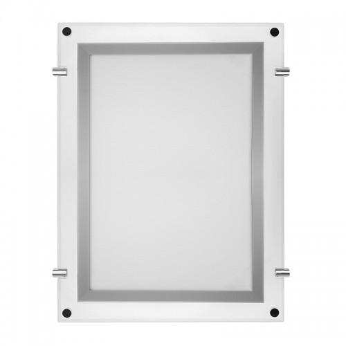 Бескаркасная подвесная двухсторонняя световая панель Постер Crystalline Round LED ø 500, 12 Вт REXANT