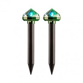 Набор отпугивателей кротов с садовым фонариком (R20*2 кристалл) REXANT