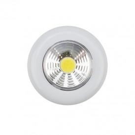 Фонарь-подсветка пушлайт СОВ + фасеточный рефлектор, самоклеющееся основание 3 Вт, 3 х ААА