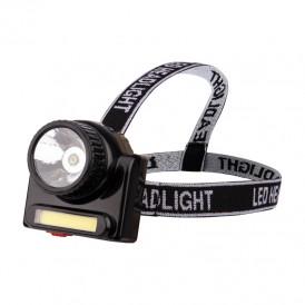 Фонарь налобный поворотный направленный + сфокусированный свет, встроенный аккумулятор, зарядка от сети через съемный кабель (в комплекте)